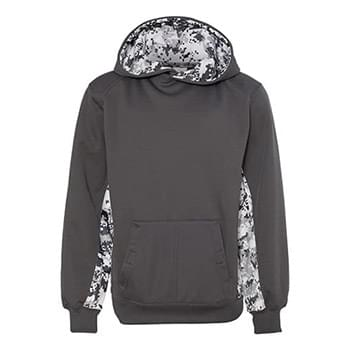 Badger - Digital Camo Youth Colorblock Performance Fleece Hooded Sweatshirt - 2464